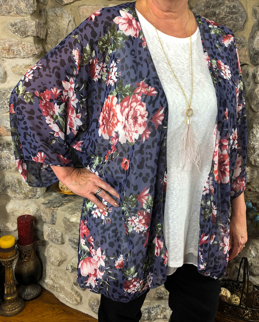 kimono Astrid - Purple - The Ruby Lotus Boutique