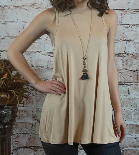 Top Carly - Sand - The Ruby Lotus Boutique