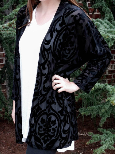 kimono Carol - Black - The Ruby Lotus Boutique