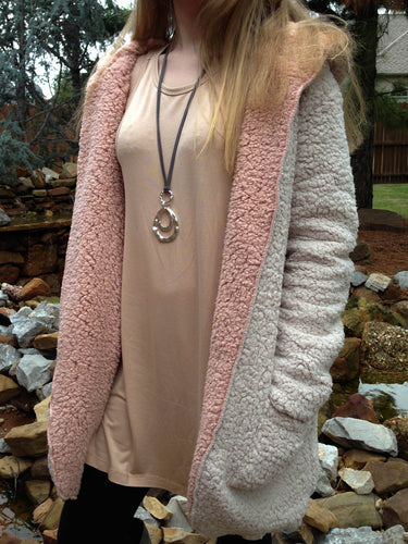 Top Courtney - Cream and Dusty Pink - The Ruby Lotus Boutique