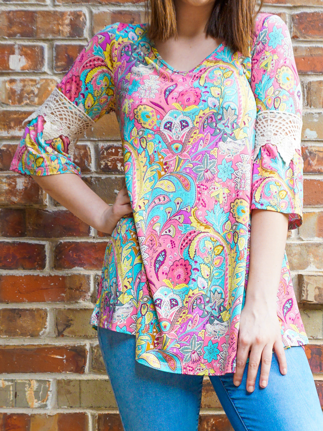 Top Kimberly - Pink - The Ruby Lotus Boutique