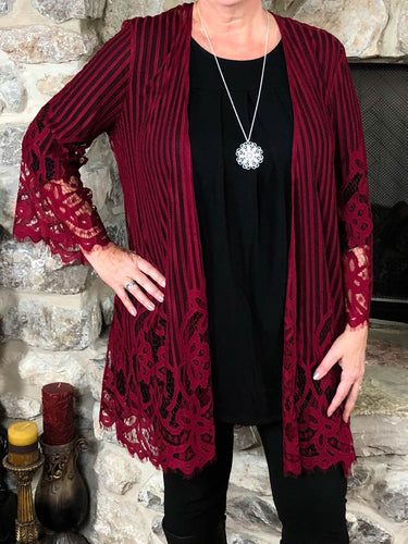 kimono Lisa - Red - The Ruby Lotus Boutique