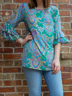 Top Margot - Green - The Ruby Lotus Boutique