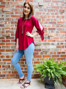 Top Mariah - Raspberry - The Ruby Lotus Boutique