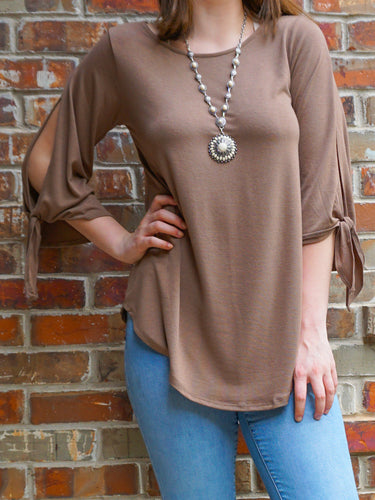 Top Mariah - Mocha - The Ruby Lotus Boutique