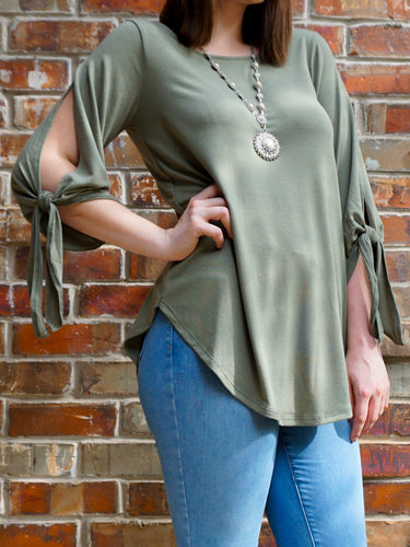 Top Mariah - Olive - The Ruby Lotus Boutique
