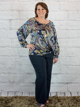 Top Pamela - Navy - The Ruby Lotus Boutique