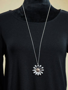 Jewelry Salzburg - Long Silver Necklace Set - The Ruby Lotus Boutique