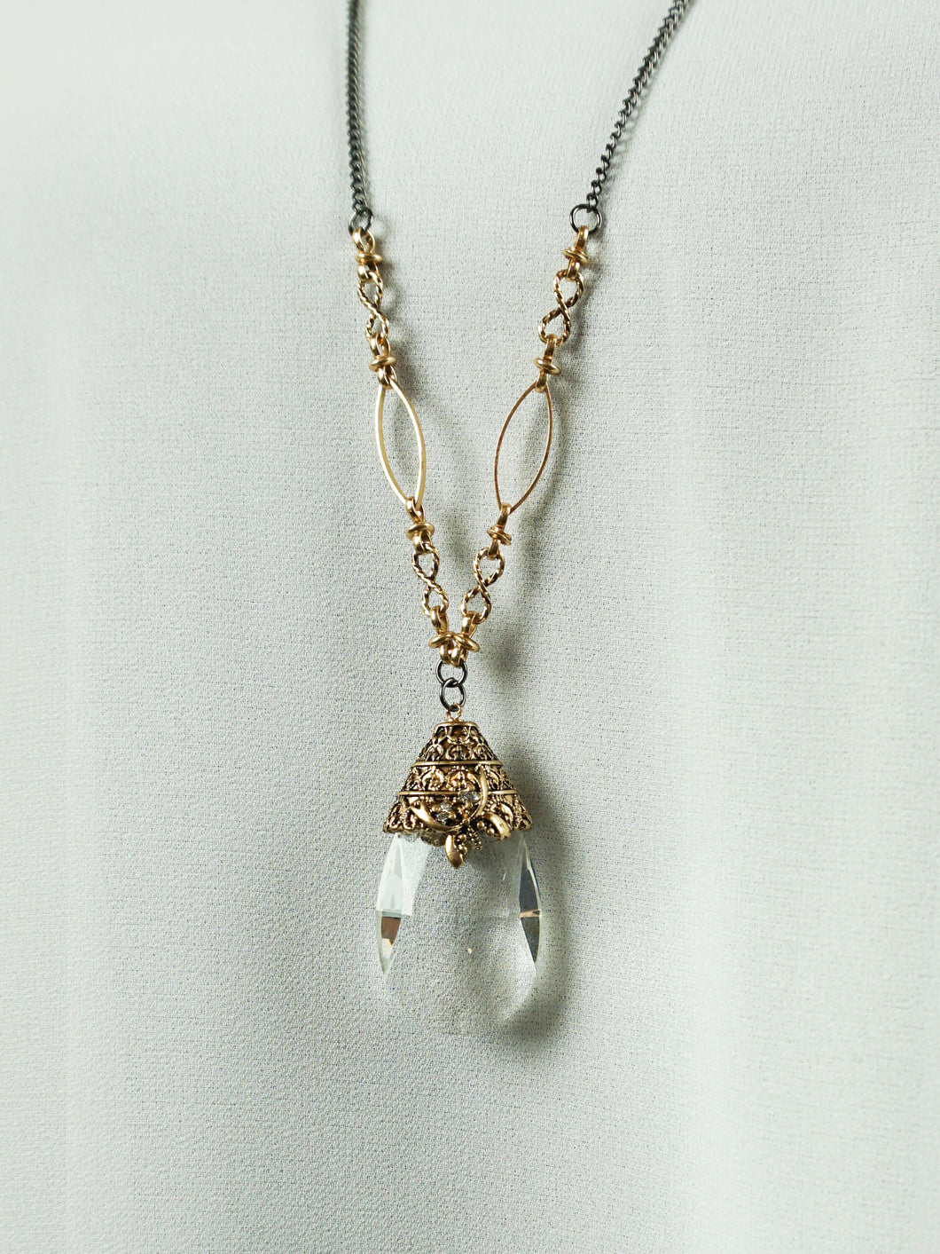 San Marino - Long Chain Necklace - Clear