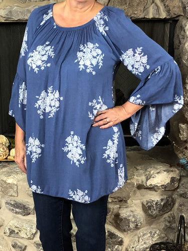 Top Sheyenne - Blue - The Ruby Lotus Boutique