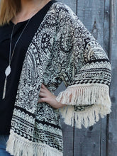 kimono Trisha - Black - The Ruby Lotus Boutique