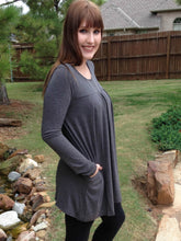 Top Zoe - Charcoal - The Ruby Lotus Boutique