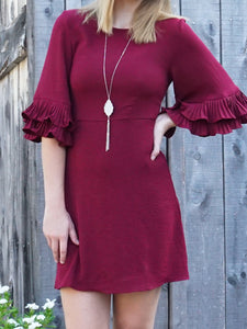 dress Renee - Burgundy - The Ruby Lotus Boutique