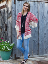 kimono Trisha - Red - The Ruby Lotus Boutique