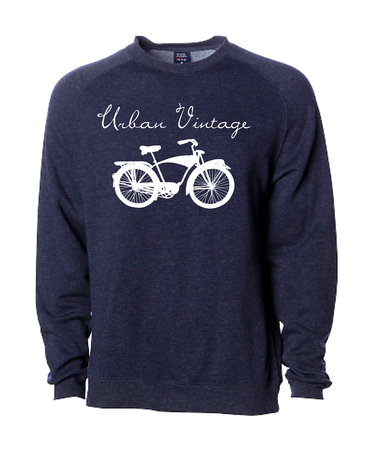 UV Crew Neck Sweatshirt-Navy/White