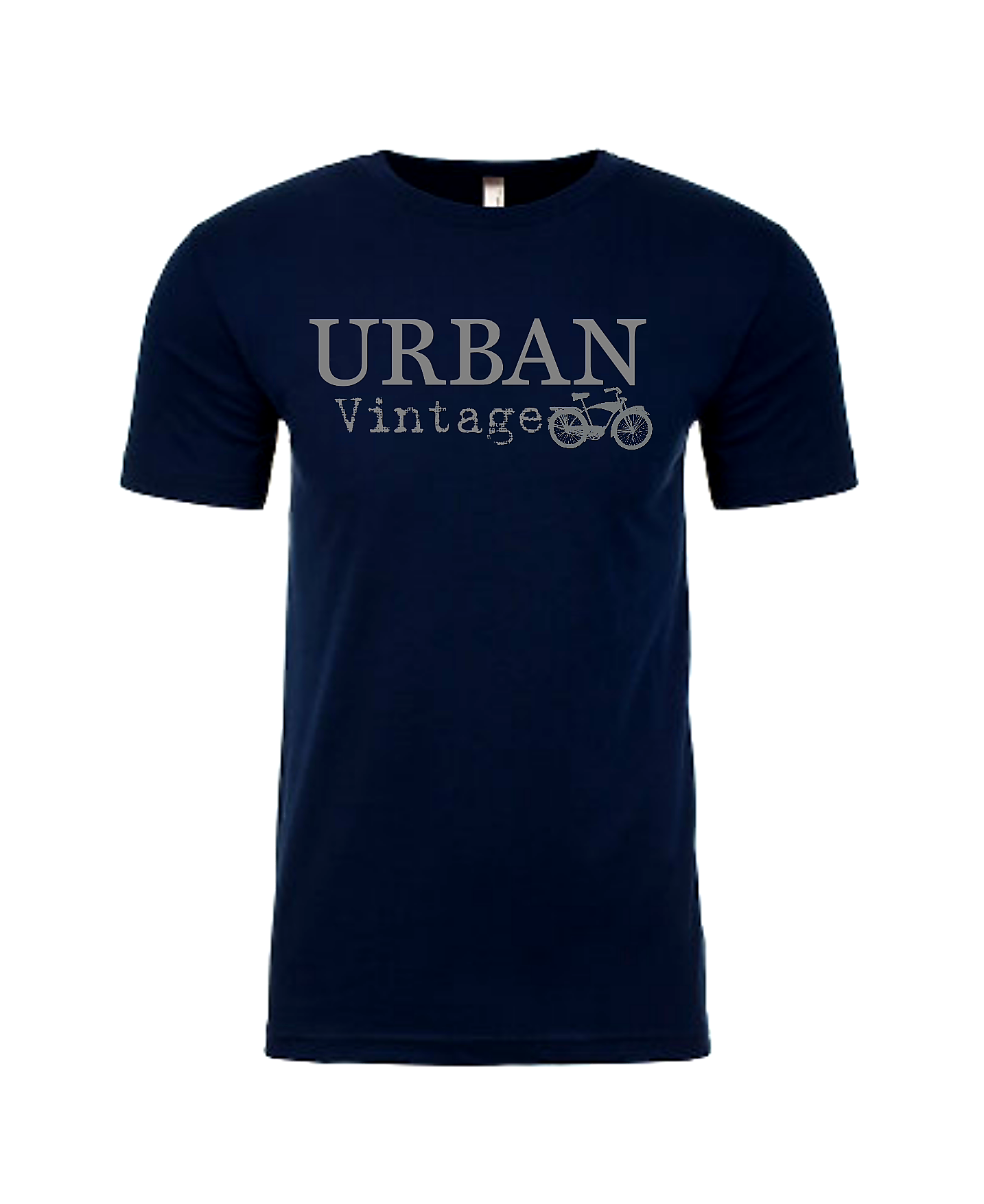 Urban Vintage Basic Tee-Navy/Gray