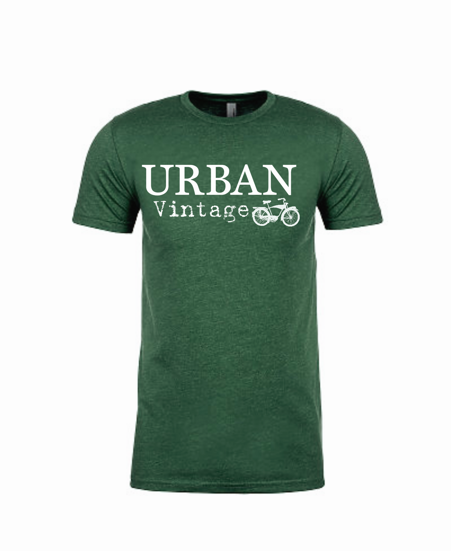 Urban Vintage Basic Tee-Hunter Green/White