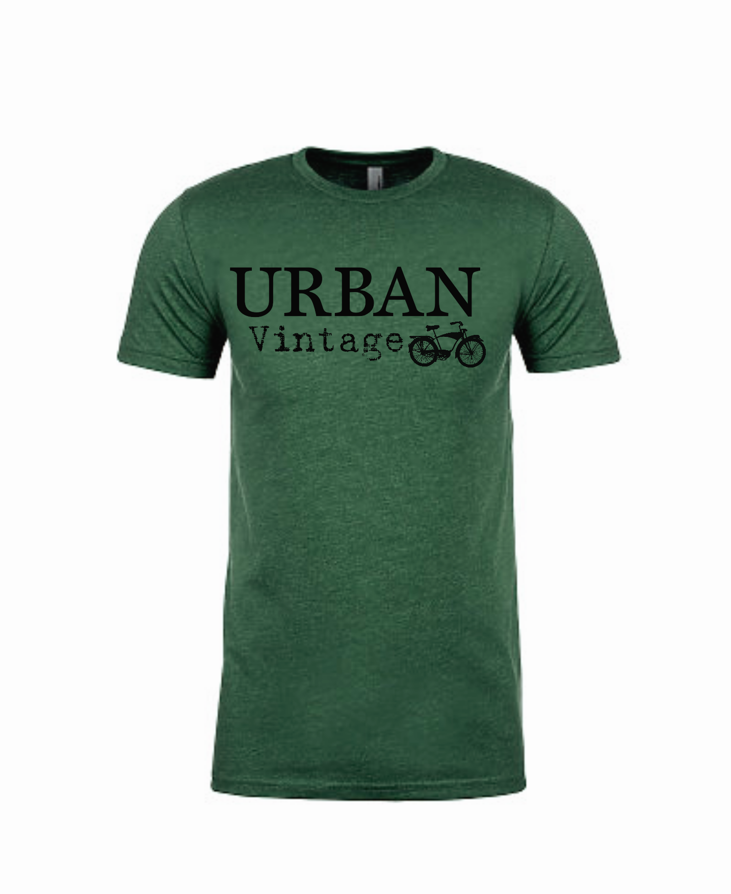 Urban Vintage Basic Tee-Hunter Green/Black