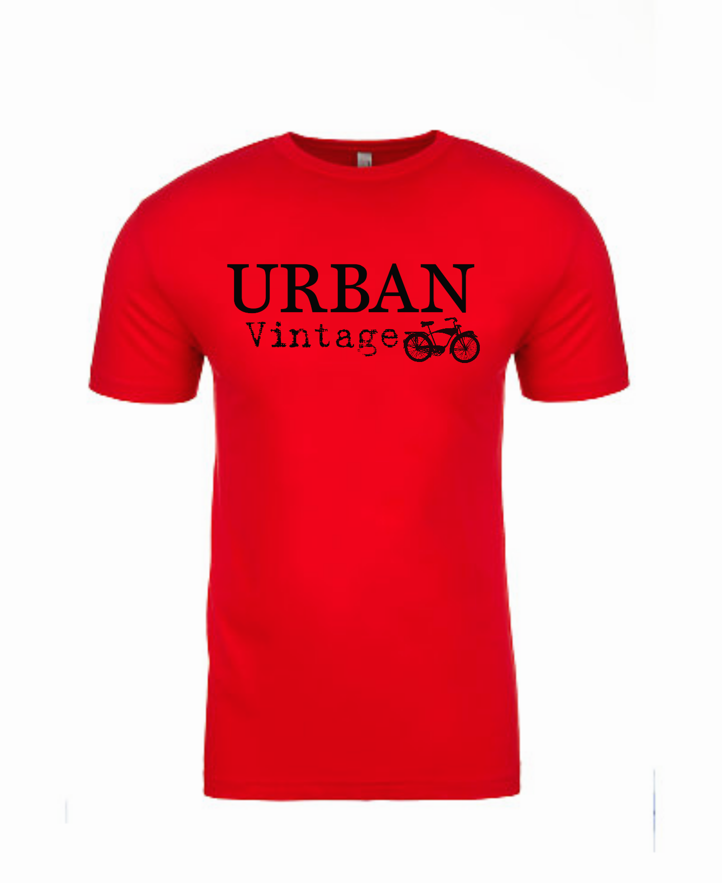 Urban Vintage Basic Tee-Red/Black
