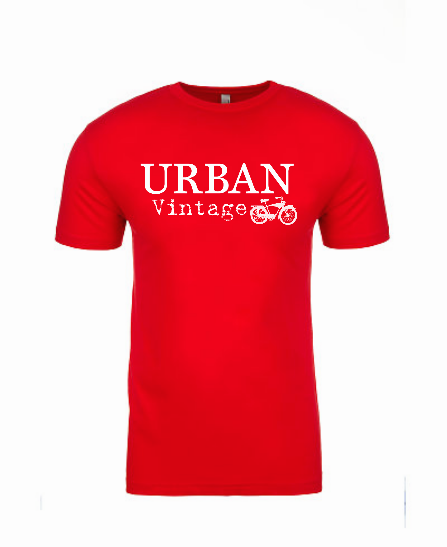 Urban Vintage Basic Tee-Red/White