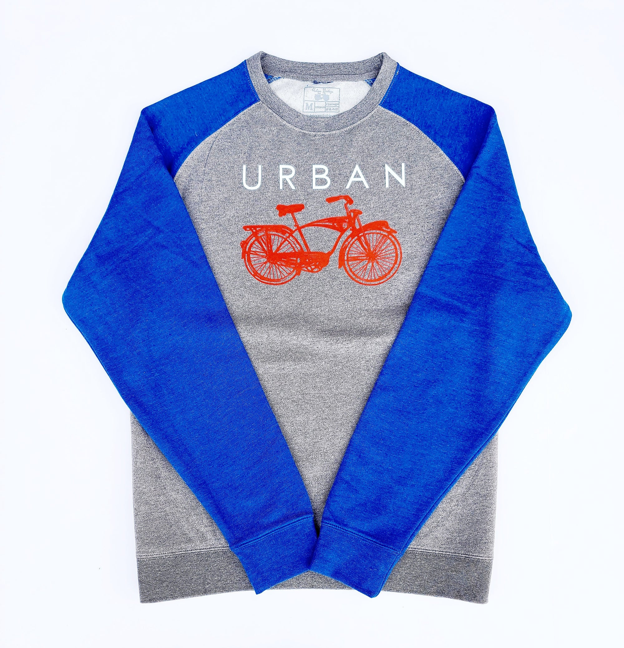 Urban Crew Neck-Royal/Gray/Red/White
