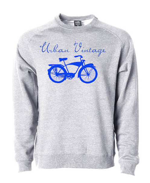 UV Crew Neck Sweatshirt-Heather Gray/Royal