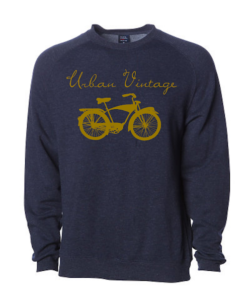 UV Crew Neck Sweatshirt-Navy/Gold