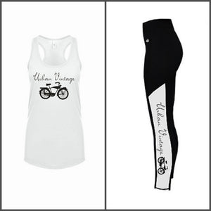 UV Women's Racerback Tank-White/Black