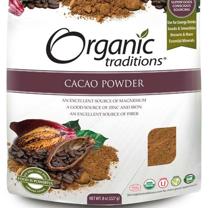 Organic Traditions - POUDRE DE CACAO 227g