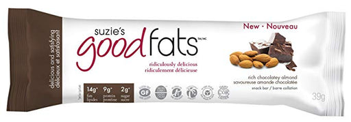 Suzie's Good Fats Bars - Chocolat riche et amandes 39g / Rich chocolatey almond 39g
