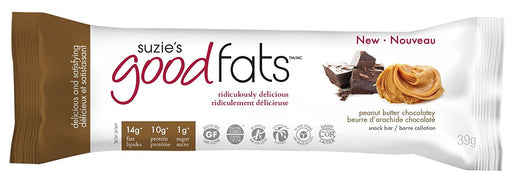 Suzie's Good Fats Bars - Beurre d'arachide chocolaté 39g / Peanut butter chocolatey 39g