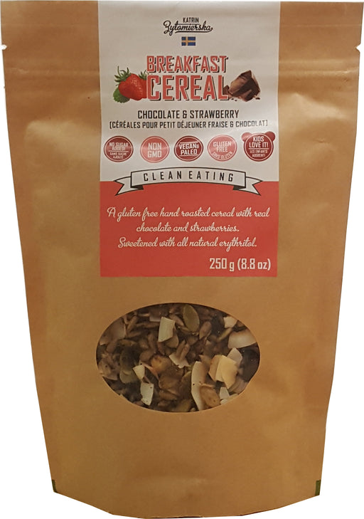 **KZ Clean Paleo Muesli Croquant - Chocolat et fraise 250g / Chunky Muesli - Chocolate and Strawberry 250g (NT)
