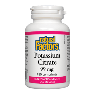 Natural Factors - Citrate de potassium 99mg (180caps) /  Natural Factors - Potassium Citrate 99mg (180 caps)