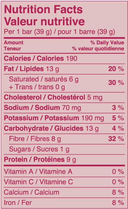 Love Good Fats Bars - Biscuits et crème 39g