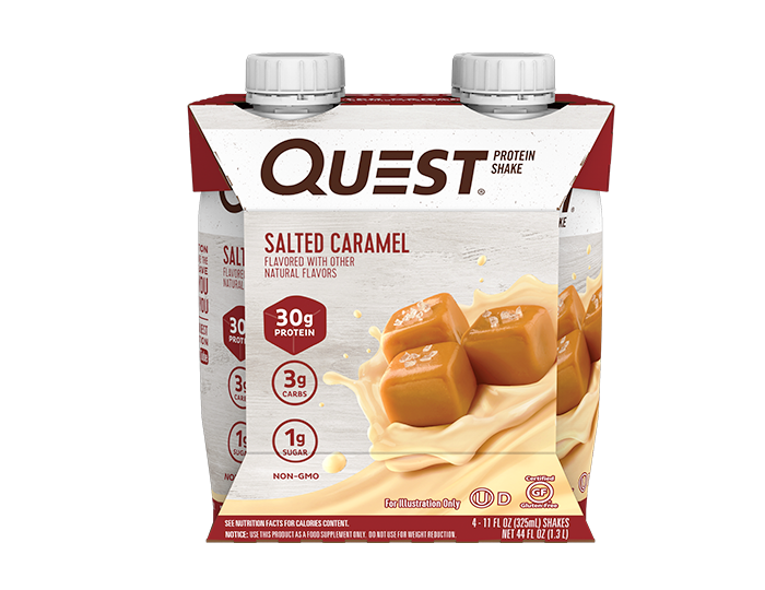 Quest_protein_proteine_shake_caramel_salted_sale_pret_a_boire_ready_to_drink_epicerie_Keto_Quebec_faible_en_gluicides_nutrition_facts_ingredients