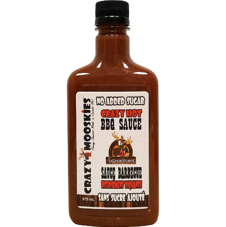 Crazy Mooskies - Sans sucre ajoutée au stevia-BBQ Crazy Hot 375ml
