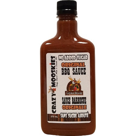 Crazy Mooskies - Sans sucre ajoutée au stevia- BBQ Originale 375ml