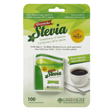 **Greeniche Natural-Stevia en comprimé (100 caps) /  Greeniche Natural-Stevia tablet (100 caps) (NT)