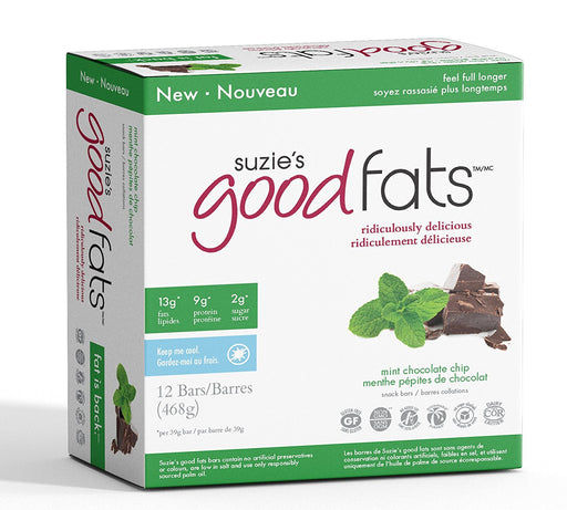 Love Good Fats Bars - Menthe et pépites de chocolat 39g