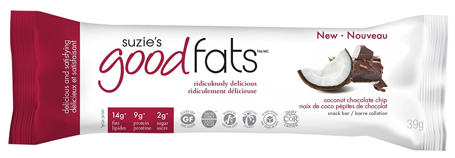 **Love GoodFats Bars - Noix de coco et pépites de chocolat 39g / Coconut chocolate chip 39g