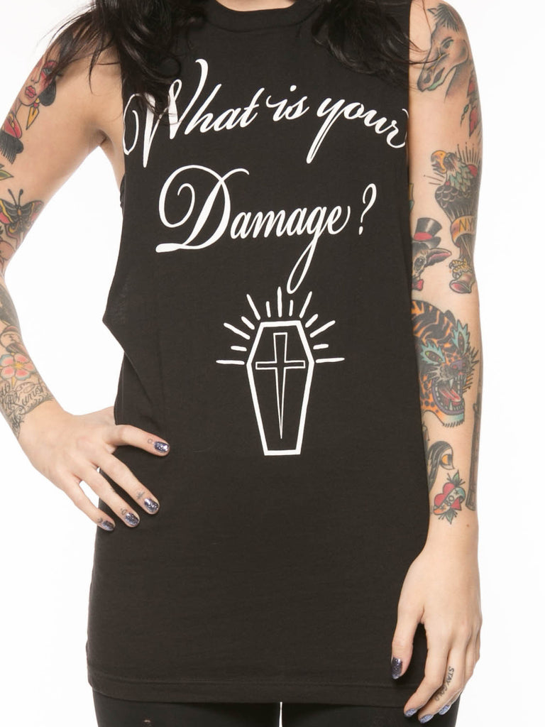 What's Your Damage Muscle Tee