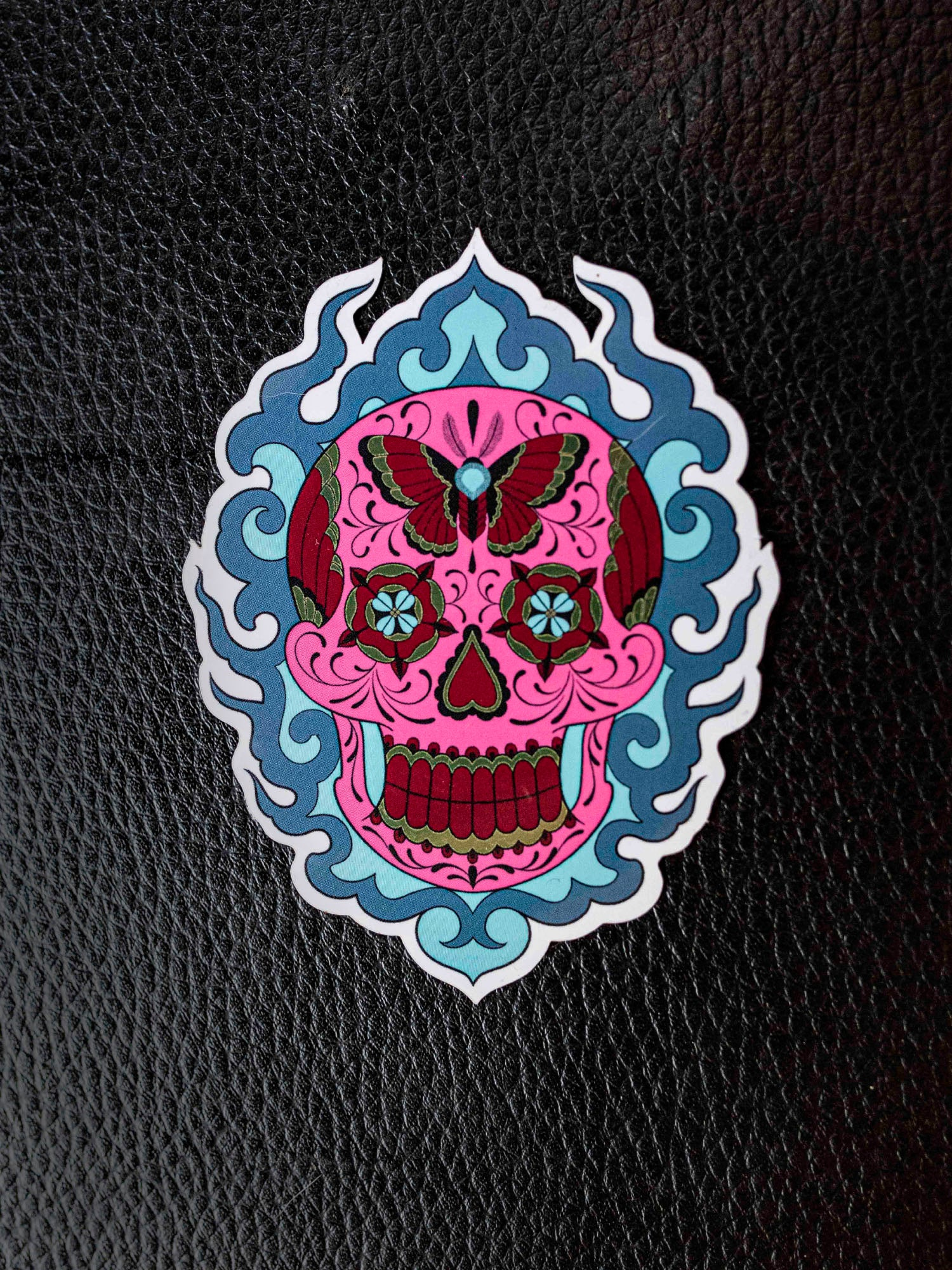 Mariposa Skull Sticker