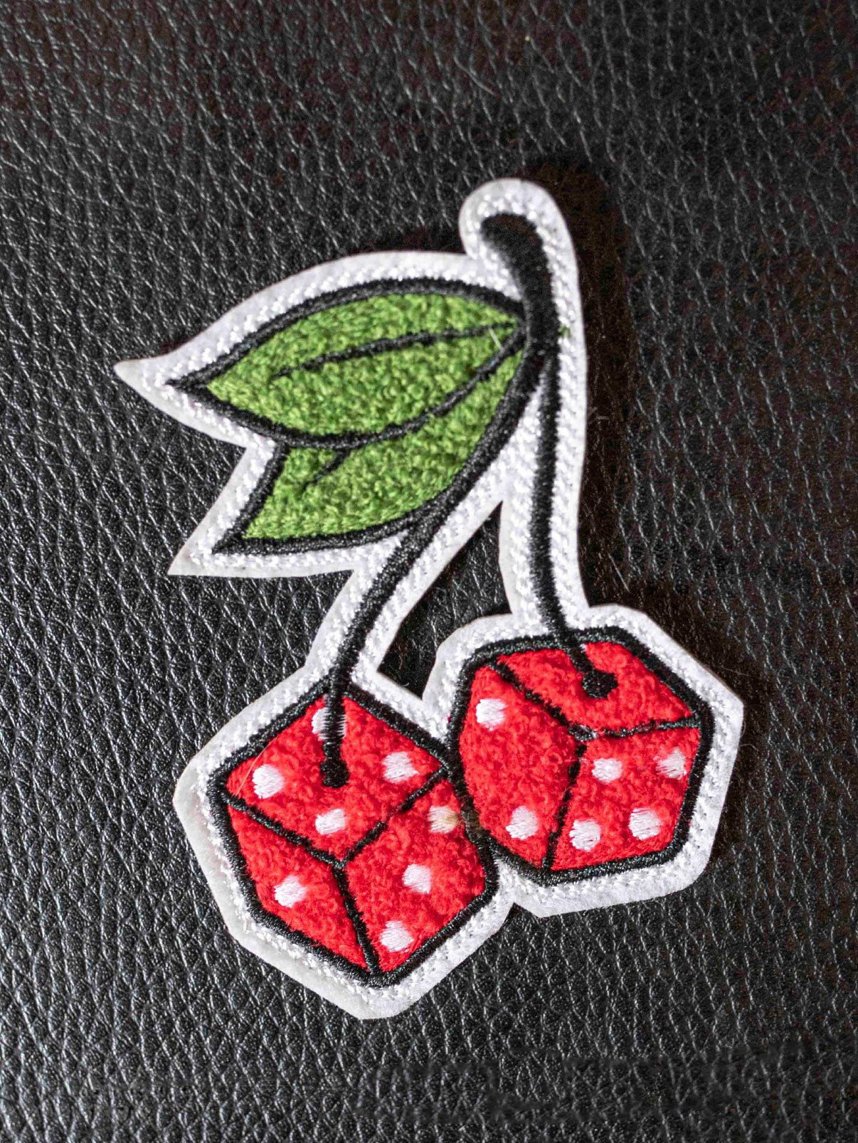 Cherry Dice Chenille Patch