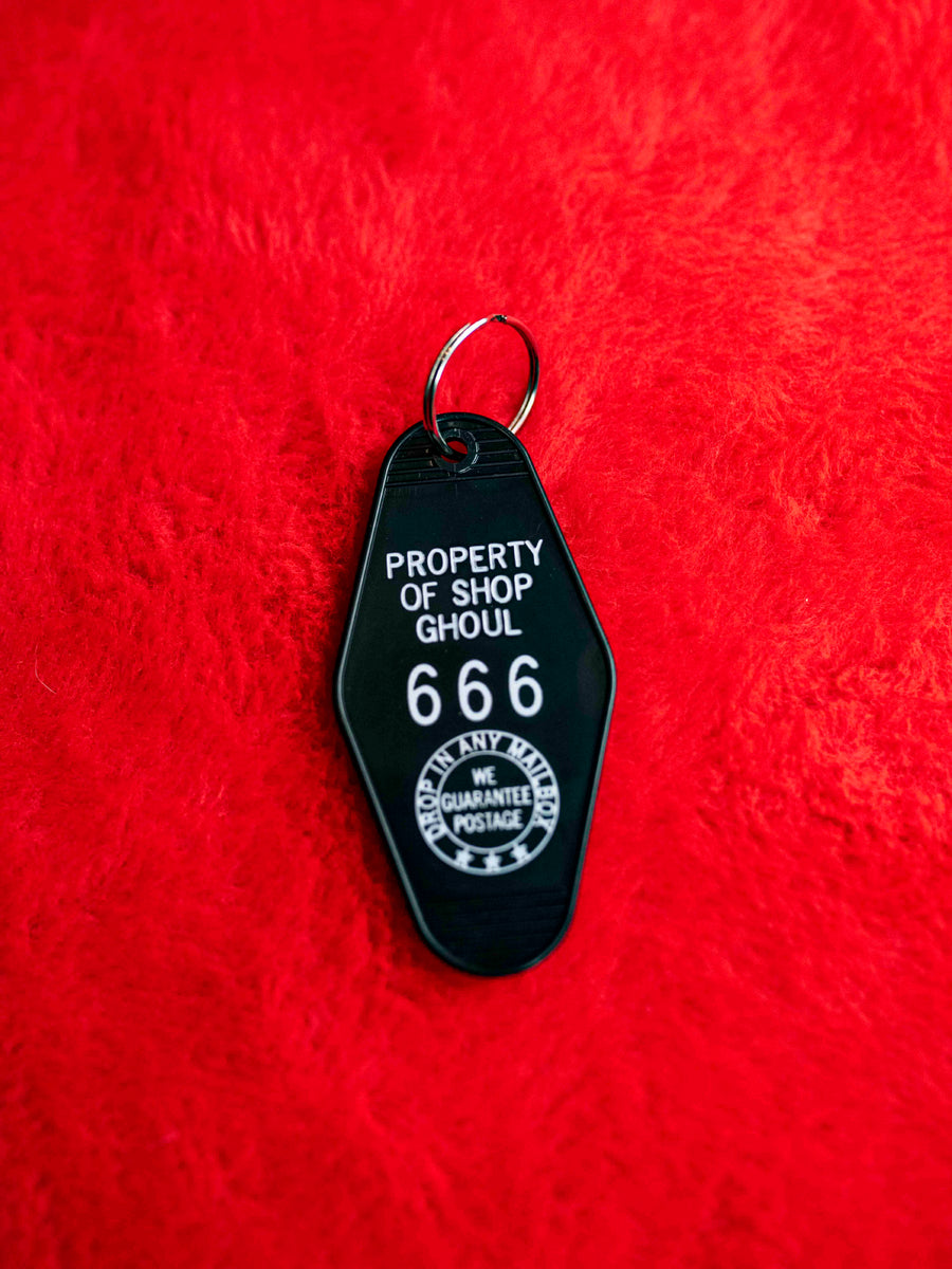 Property of SHOP GHOUL Motel Key Tag