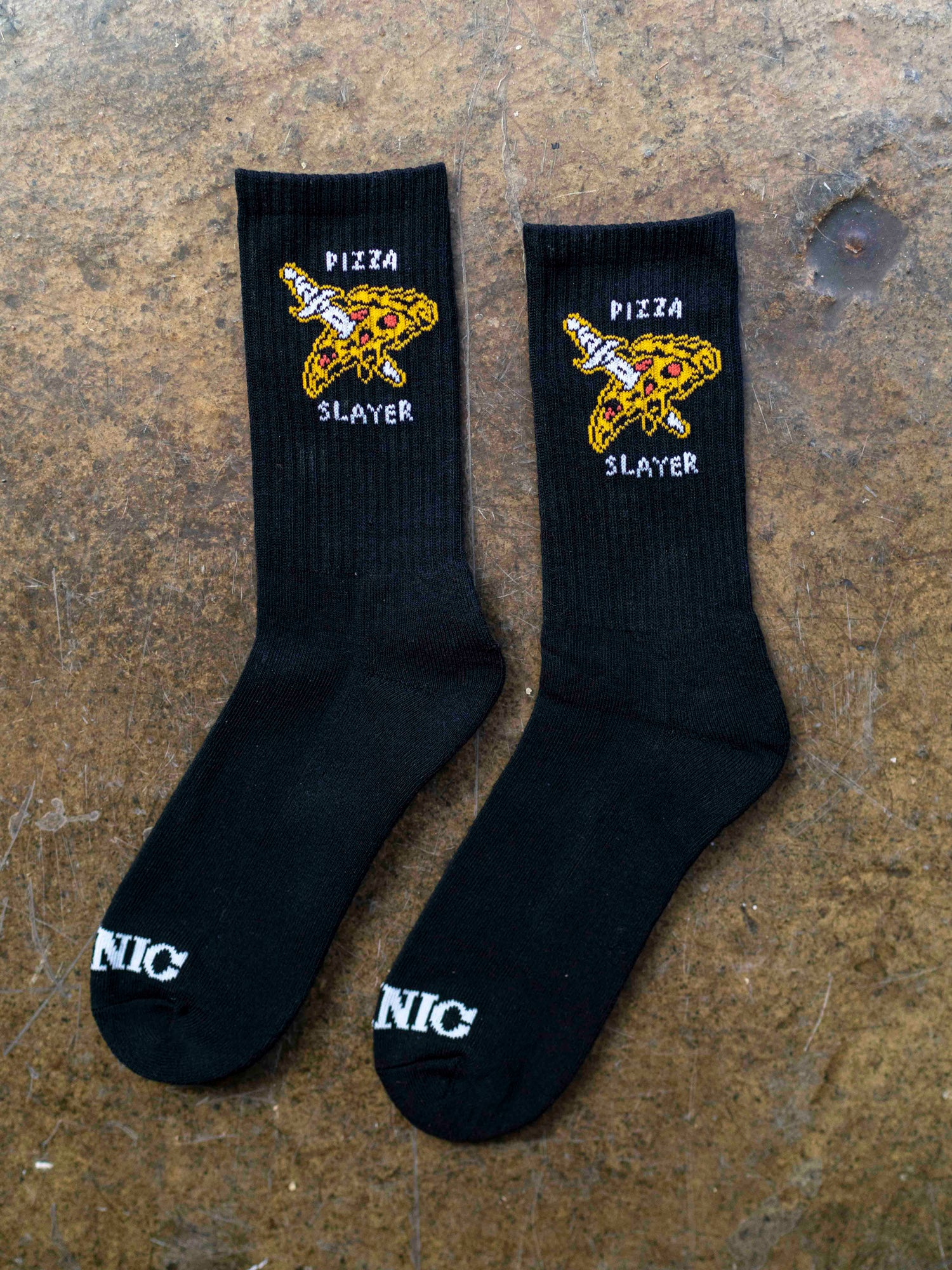 Pizza Slayer Socks