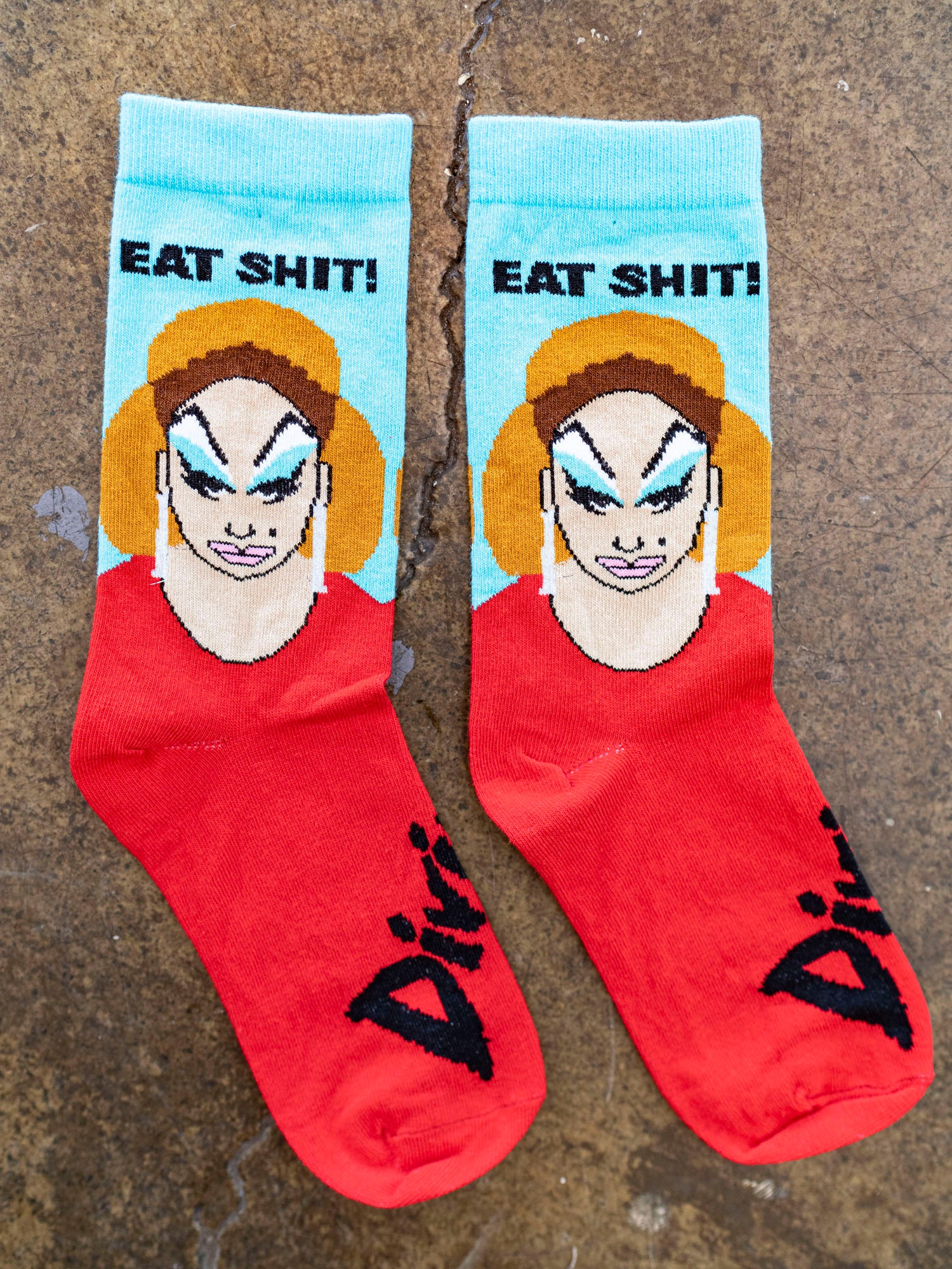 Devine Eat Shit Socks