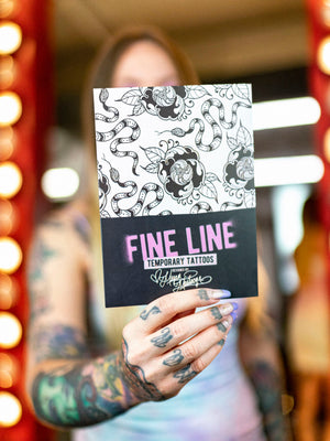 Fine Line Temporary Tattoos