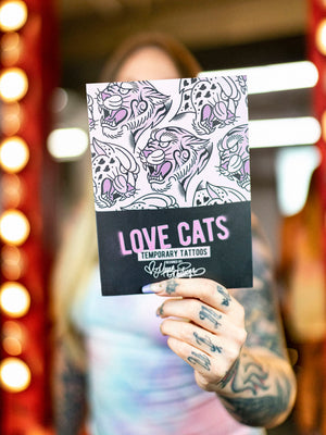 Love Cats Temporary Tattoos