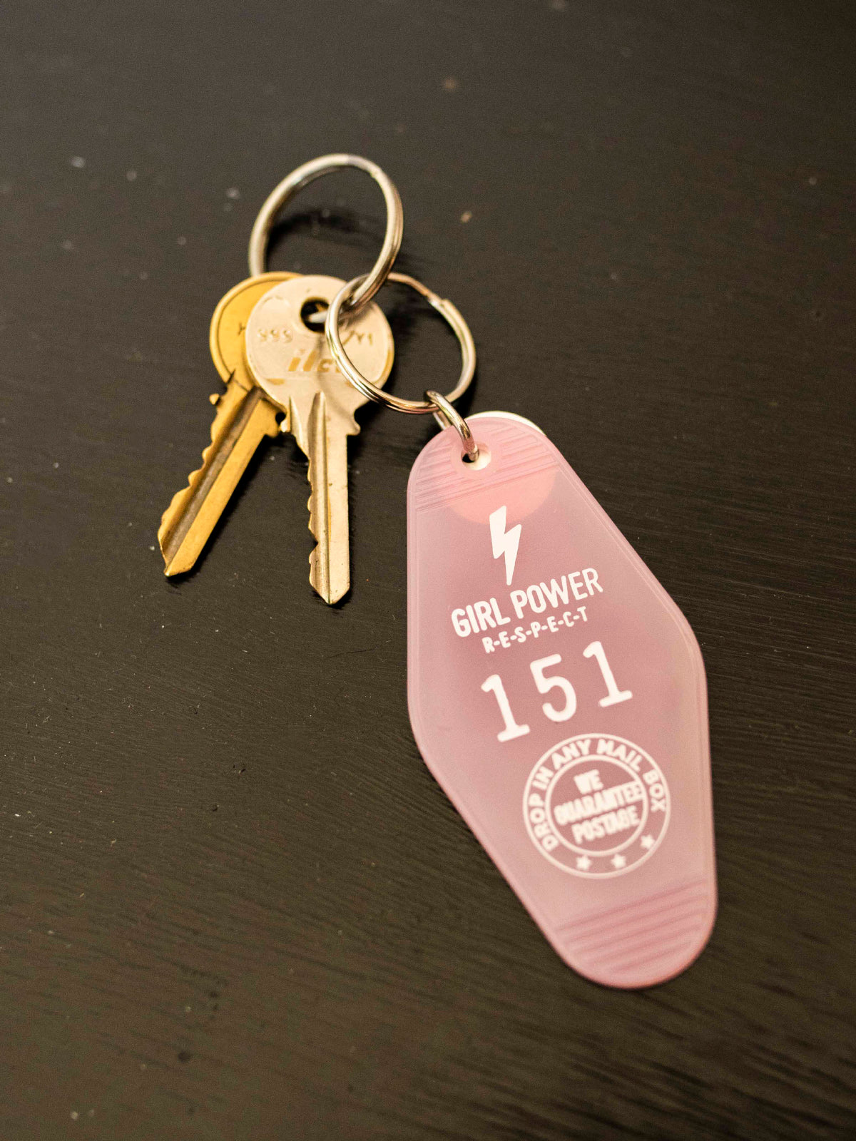 Pink Girl Power Key Tag