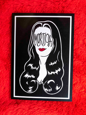 Morticia Greeting Card
